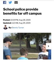 Article on KXXV pertaining to the JISD Police Force